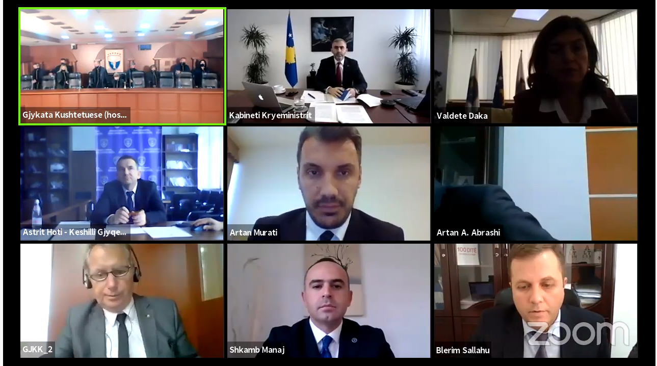 Këta janë përfaqësuesit e Qeverisë  Kuvendit të Kosovës dhe Vetëvendosjes në seancën dëgjimore në Gjykatën Kushtetuese